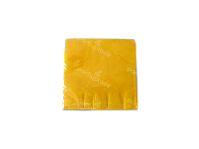 Yellow Beverage Napkin