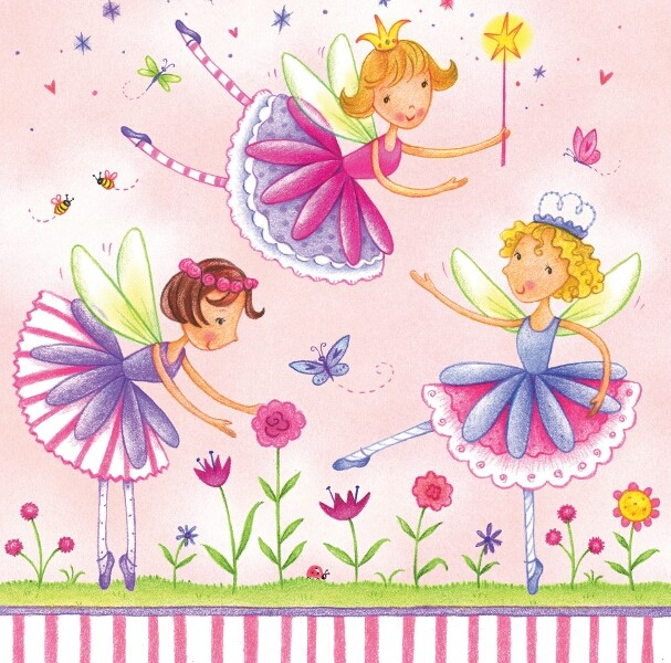 Garden Fairy Party Paper Napkins