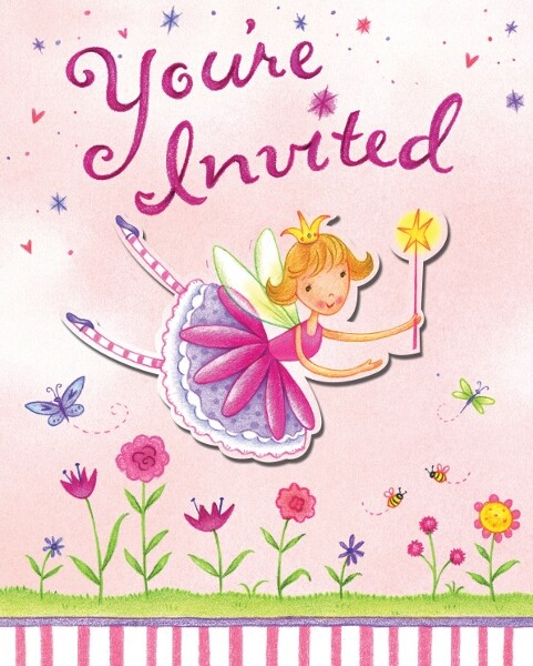 Garden Fairy Party Invitations
