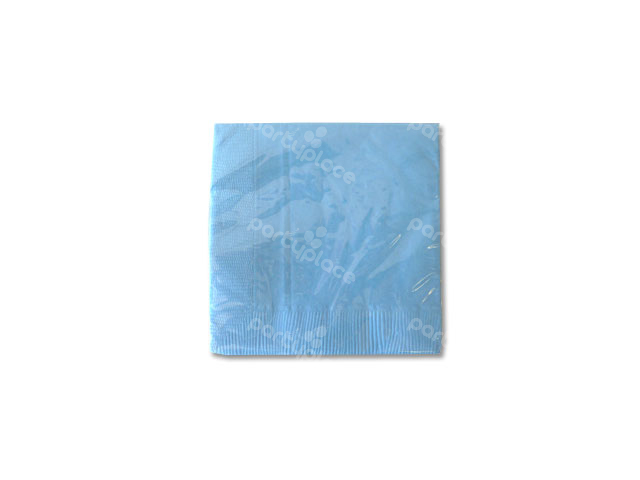 Light Blue Beverage Napkin