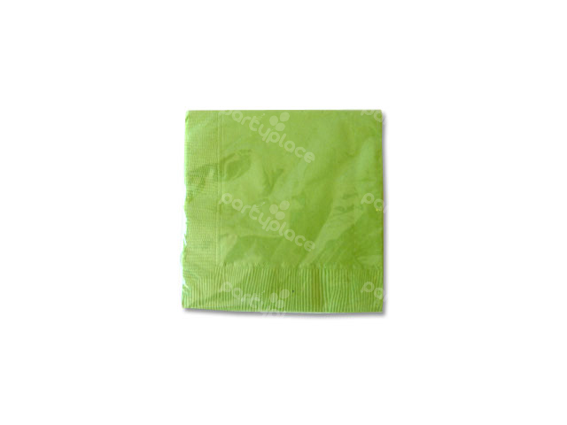 Lime Green Beverage Napkin
