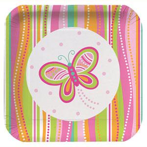 Mod Butterfly Party Medium Paper Plates