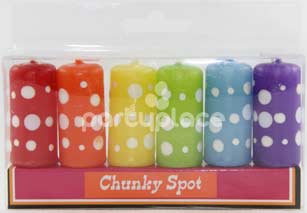 Chunky Spot Candle pkt 6