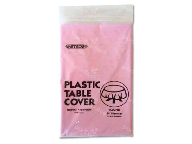 Baby Pink Table Cloth - Round