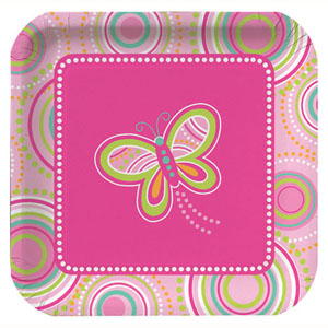 Mod Butterfly Party Large Paper Plates