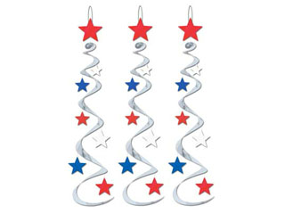 USA Hanging Decorations Star Whirls