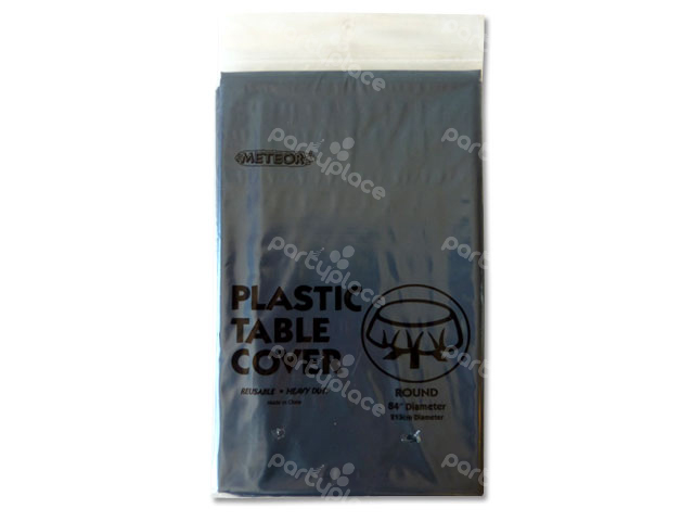 Black Table Cloth - Round