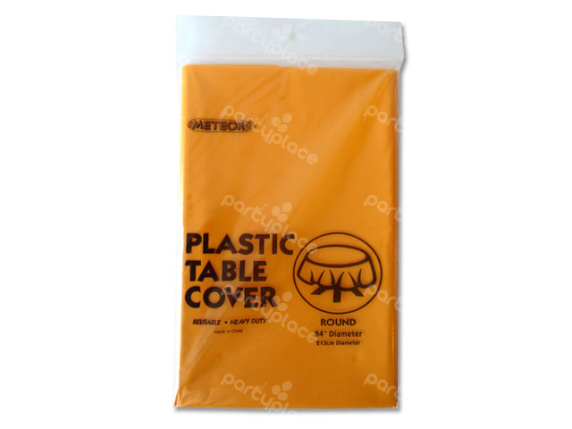 Orange Table Cloth - Round