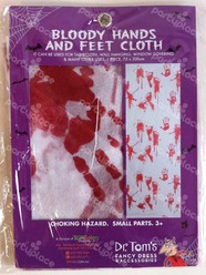 Halloween Bloody Hands and Feet Cloth