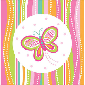 Mod Butterfly Party Lunch Napkins