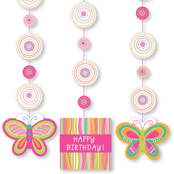 Mod Butterfly Party Hanging Decorations
